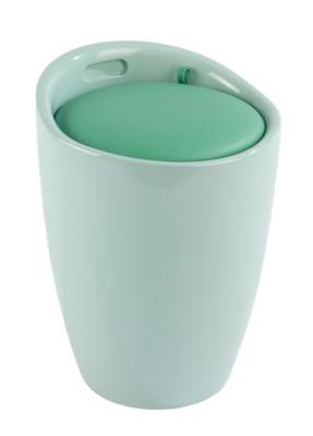 Hocker ´´Candy´´ mit abnehmbarem Wäschesack grün