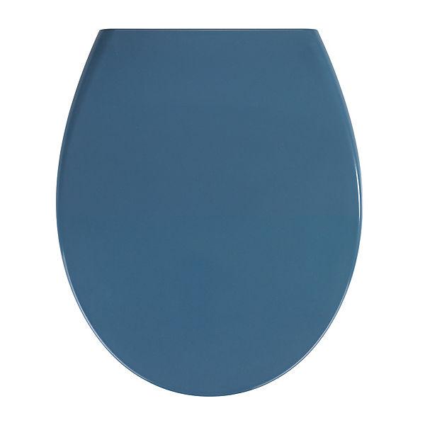 Premium WC-Sitz Samos Slate Blue Duroplast, mit Absenkautomatik ...