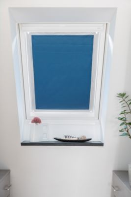 Lichtblick Dachfenster Sonnenschutz Haftfix, ohne Bohren blau Gr. 94 x 96,9 | Garten > Balkon > Sonnenschutz | Lichtblick