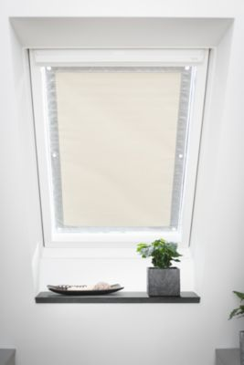 Lichtblick Dachfenster Sonnenschutz Haftfix, ohne Bohren beige Gr. 47 x 91,5 | Garten > Balkon > Sonnenschutz | Lichtblick