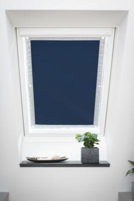 Dachfenster Sonnenschutz Haftfix, ohne Bohren, Verdunkelung, blau Gr. 36 x 51,5