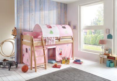 Etagenbett Prinzessin : 2er tunnel für hoch und etagenbetten prinzessin rosa weiß 150 cm