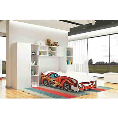 autobett formula inkl lattenrost und matratze rot 80 x 160 cm rot relita yomonda. Black Bedroom Furniture Sets. Home Design Ideas