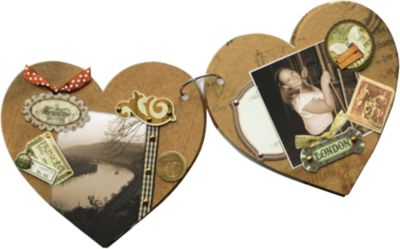 Memory-Book-Kit ´´Vintage Heart´´ bunt