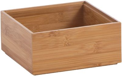 Aufbewahrungs-Kiste ´´Bamboo´´ 15x15x7 cm beige