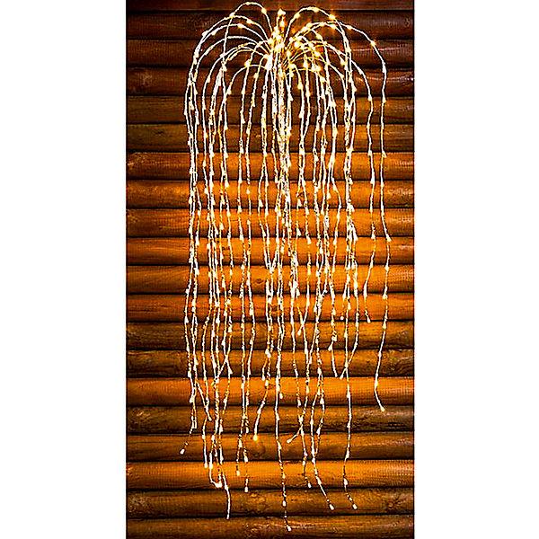 Led Lichterkette Funkeln.Led Lichterketten Kaskade Trauerweide Mit Funkeln Warmweiss 480 Leds 1 2 M Weiss