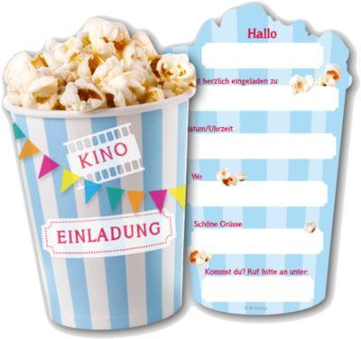 Einladungskarten Kino, 6 Stück
