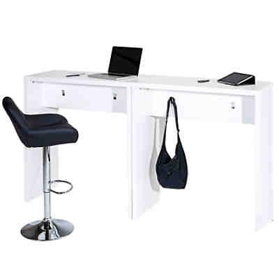 Schreibtisch lisa mit 2 schubladen 120x50 cm yomonda for Hochtisch mit schublade