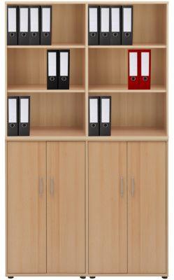 4-tlg Büroschrank ´´Omegos´´ 222x130x34 cm hellbraun