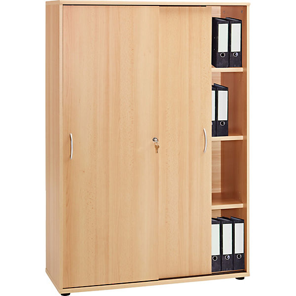 b roschrank mit schiebet ren omegos 153x 100x40 cm braun yomonda. Black Bedroom Furniture Sets. Home Design Ideas