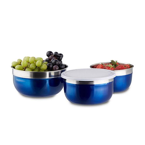 3 tlg sch ssel set mit deckel blau yomonda. Black Bedroom Furniture Sets. Home Design Ideas