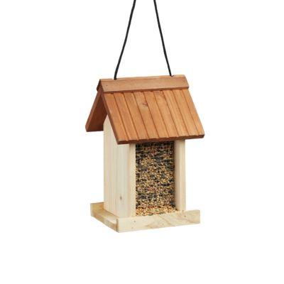 Vogelfutterhaus braun
