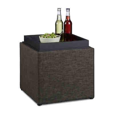 2er set sitzhocker home sweet hund mit futterbar yomonda. Black Bedroom Furniture Sets. Home Design Ideas
