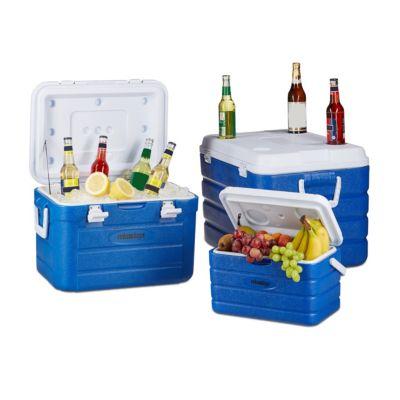 3-tlg. Kühlbox-Set ohne Strom blau