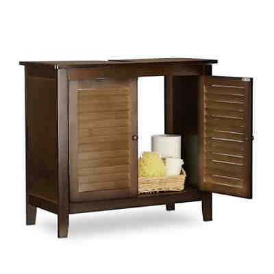 b roschrank mit schiebet ren 76x100x40 cm yomonda. Black Bedroom Furniture Sets. Home Design Ideas