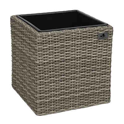 pflanzk bel aus wasserhyazinthengeflecht beige yomonda. Black Bedroom Furniture Sets. Home Design Ideas
