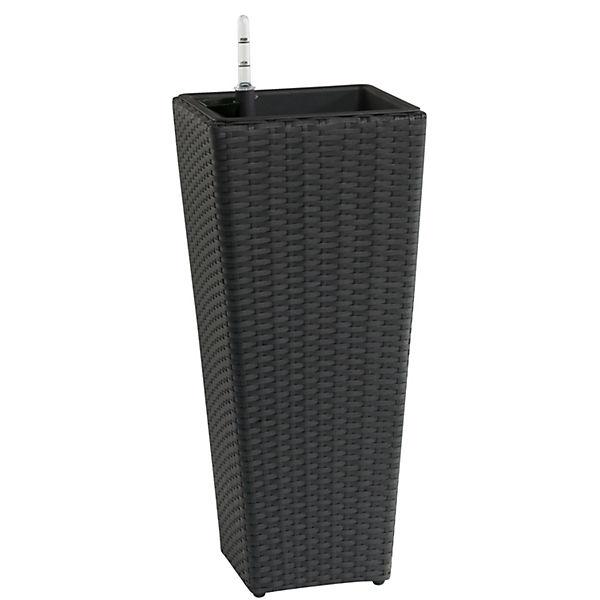 polyrattan pflanzk bel mit bew sserungssystem grau yomonda. Black Bedroom Furniture Sets. Home Design Ideas