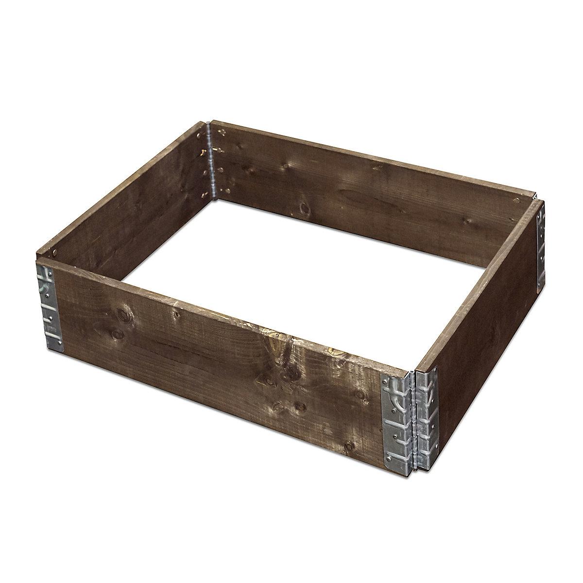 Fichtenholz hochbeet erweiterbar 60x80 cm braun yomonda for Badepool obi