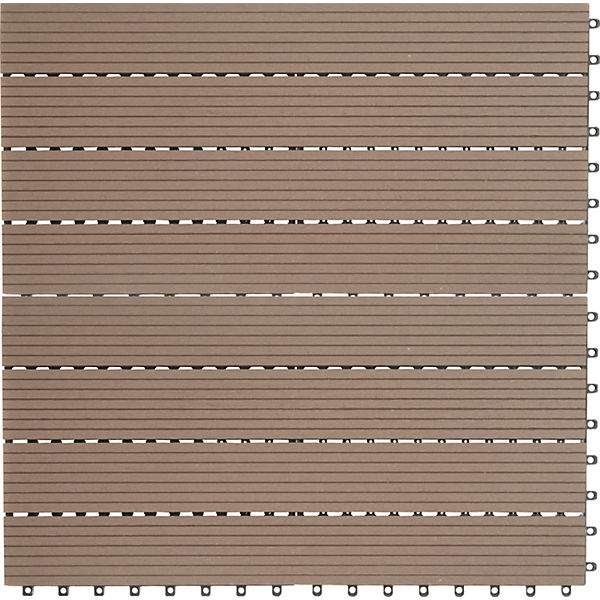 Perfekt 6er Set WPC Terrassen Fliesen 60x30 Cm