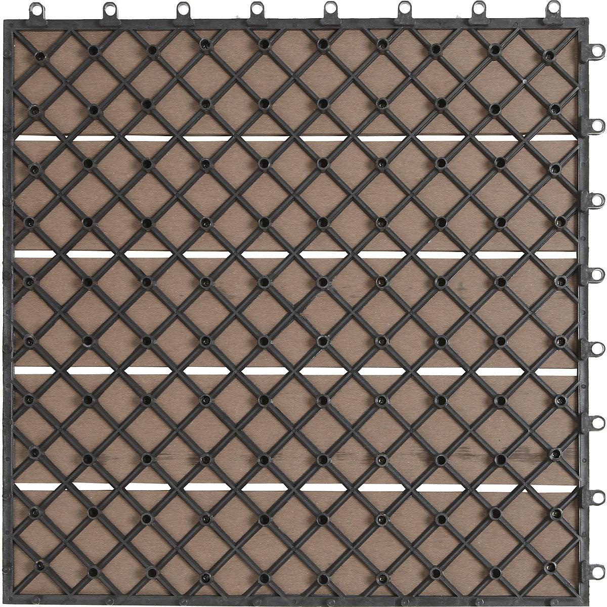 6er set wpc terrassen fliesen 40x40 cm braun. Black Bedroom Furniture Sets. Home Design Ideas