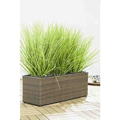 Pflanzkübel Polyrattan für Innen und Außen, | yomonda