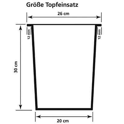 Polyrattan Raumteiler/Pflanzkübel 76x26x73 cm, braun,   yomonda
