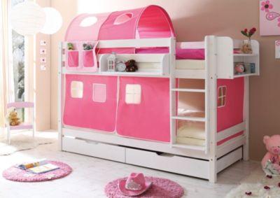Etagenbett Relita Mike : Etagenbett marcel kiefer massiv weiß lackiert rosa pink x