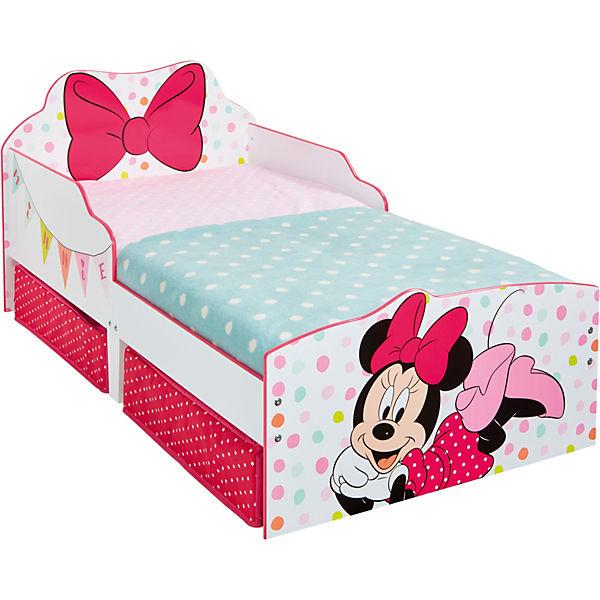 Kinderbett Minnie, inkl. Schubladen, 70 x 140 cm, rosa, Disney Minnie Mouse
