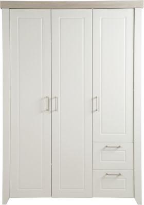 Kleiderschrank FELICIA, 3-tlg., weiß/Luna Elm