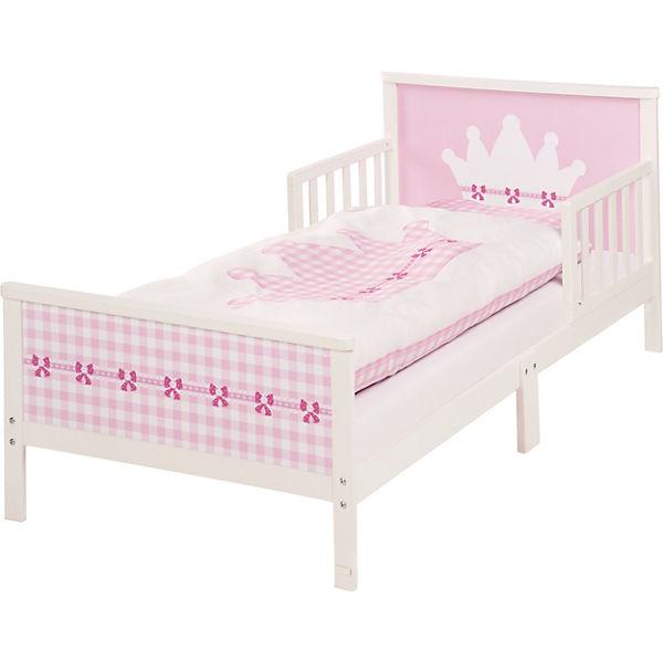Kinderbett Krone 70 X 140 Cm Weiß Rosa Roba