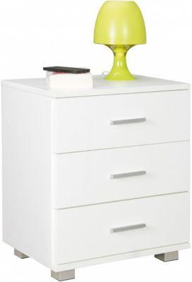 Nachttisch mit 3 Schubladen  45x54x34 cm weiß