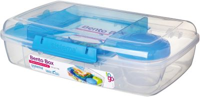 sistema LUNCH Brotdose Bento Box, inkl. Joghurt-Dose, blau   Küche und Esszimmer > Aufbewahrung > Brotkasten   Sistema