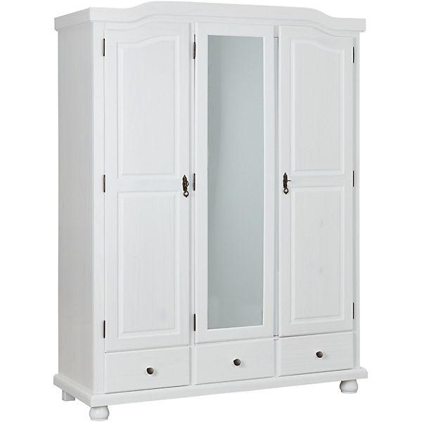 Kleiderschrank 3 Türig Weiß : kleiderschrank kappl 3 t rig kiefer massiv wei ~ Watch28wear.com Haus und Dekorationen
