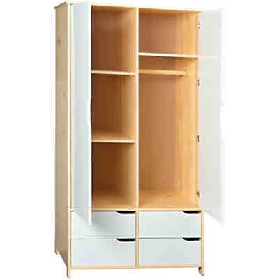 kleiderschrank honey ahorn wei 3 t rig wei schardt yomonda. Black Bedroom Furniture Sets. Home Design Ideas