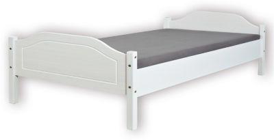 Inter Link Doppelbett Karlo, Kiefer massiv, weiß, 160 x 200 cm