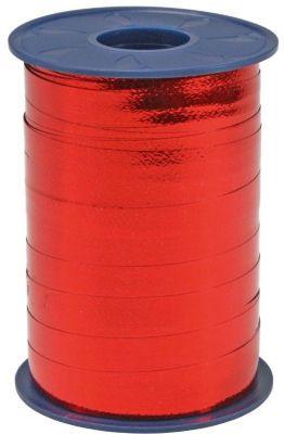 250m Geschenkband 10mm ´´Metall Ringelband´´ rot