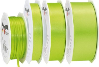 25m Geschenkband 15mm ´´Doppel-Satin´´ grün