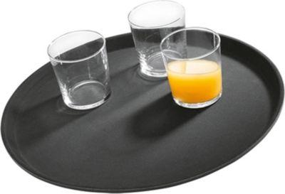 Gastronomie Servier-Tablett ø35,5 cm schwarz