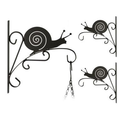 3er-Set Blumenhaken ´´Schnecke´´ schwarz