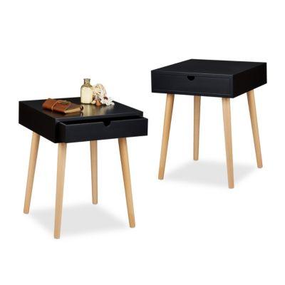 2-er Nachttisch-Set Arvid schwarz
