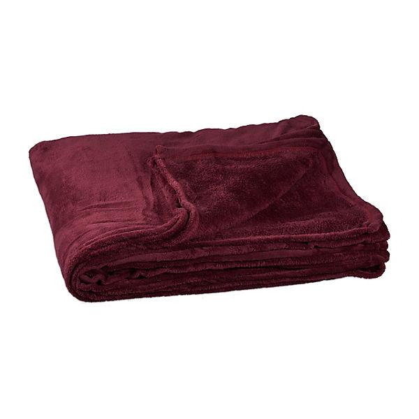 kuscheldecke fleece 200x220 cm rot yomonda. Black Bedroom Furniture Sets. Home Design Ideas
