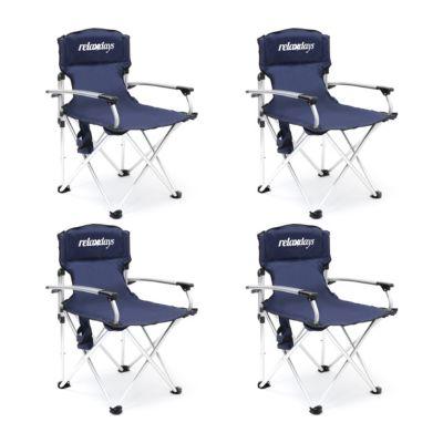 4er Campingstuhl-Set blau