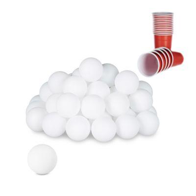 48er-Set ´´Beer Pong Bälle´´ weiß