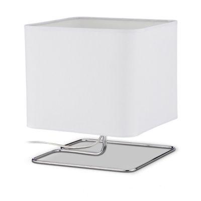 Nachttischlampe weiß | Lampen > Tischleuchten > Nachttischlampen | Weiß | Leinen - Baumwolle - Kunststoff - Eisen | yomonda