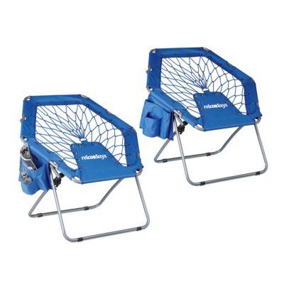 2er Bungee Stuhl-Set blau