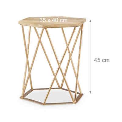akazien beistelltisch w rfel z massivholz beige yomonda. Black Bedroom Furniture Sets. Home Design Ideas