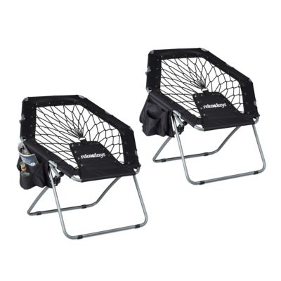 2er Bungee Stuhl-Set schwarz