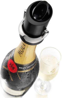 vacu vin Champagner- & Sekt-Verschluss mit Ausgiesser schwarz | Küche und Esszimmer > Bar-Möbel > Barzubehör | vacu vin