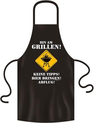 Grill- & Küchenschürze ´´bin am Grillen´´ schwarz