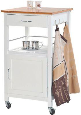 Kesper Küchenwagen mit Unterschrank und Schublade weiß